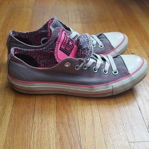 Gray & Pink Converse All Star Sneakers